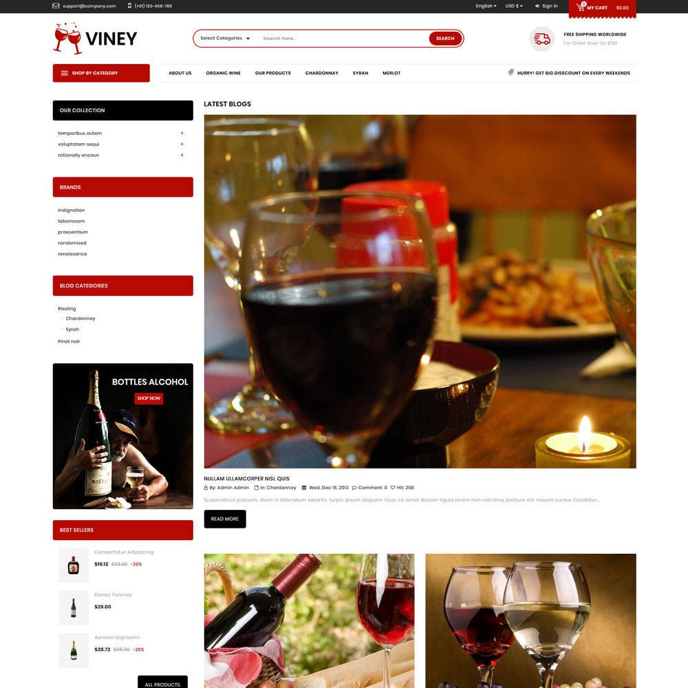 theme - Alimentation & Restauration - Viney - La Mega Wine Shop - 7
