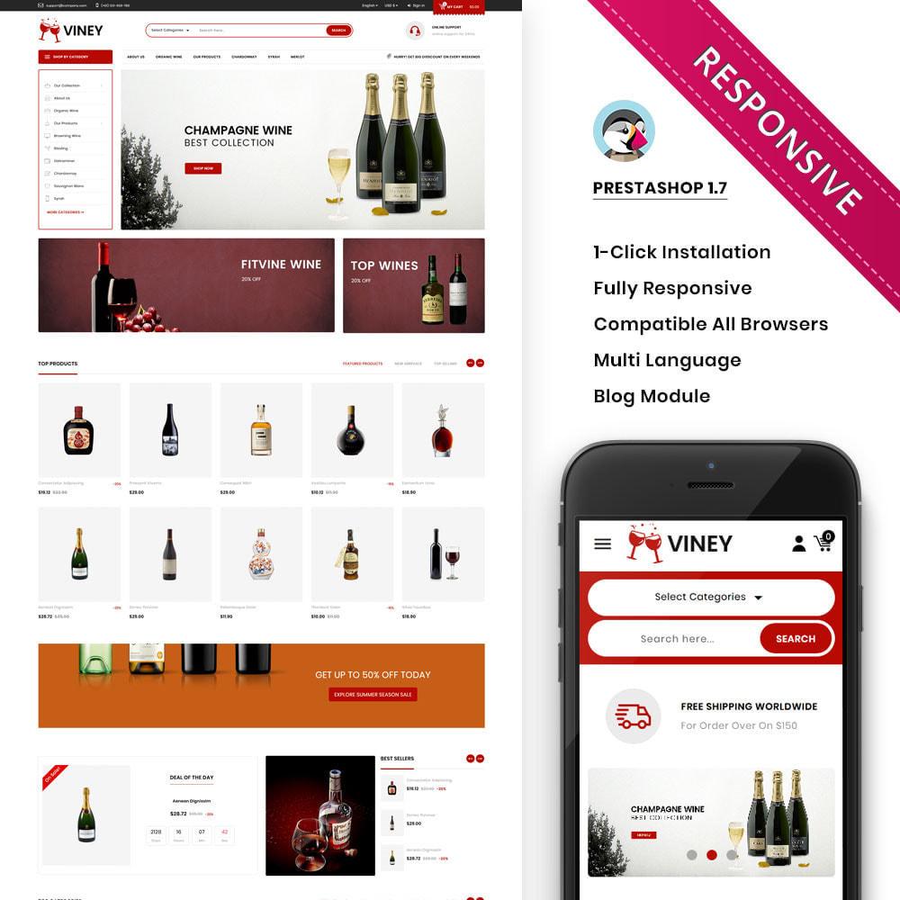 theme - Alimentation & Restauration - Viney - La Mega Wine Shop - 8