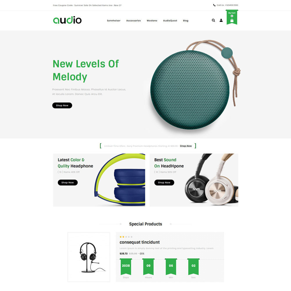 theme - Electronique & High Tech - Audio - Store - 2