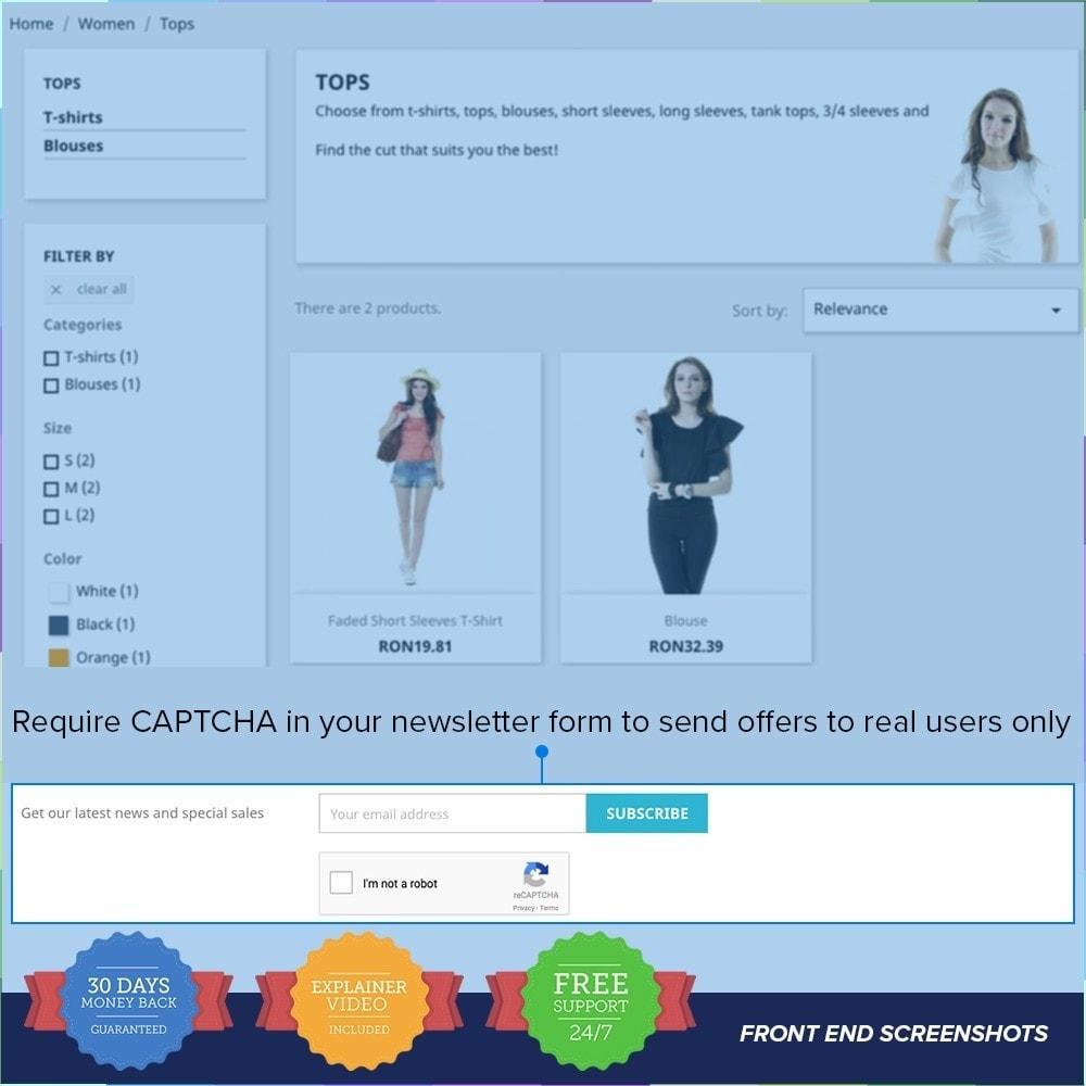 module - Sécurité & Accès - reCAPTCHA PRO - Simple - Sûr - 3
