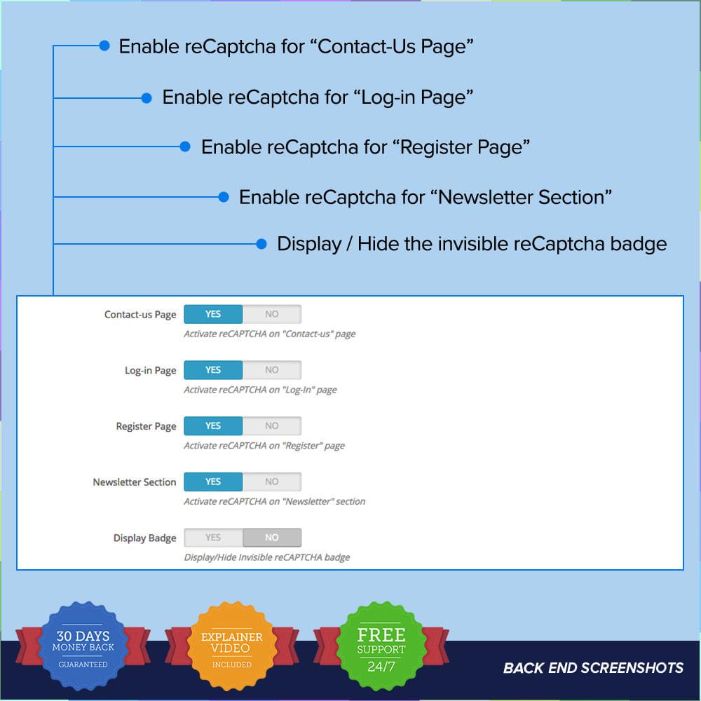 module - Sécurité & Accès - reCAPTCHA PRO - Simple - Sûr - 7