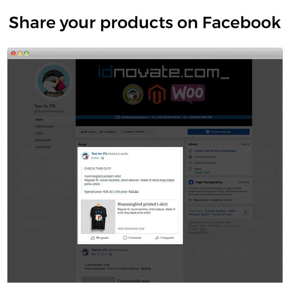 module - Produkte in Facebook & sozialen Netzwerken - Share on Social Network from the Backoffice - 2