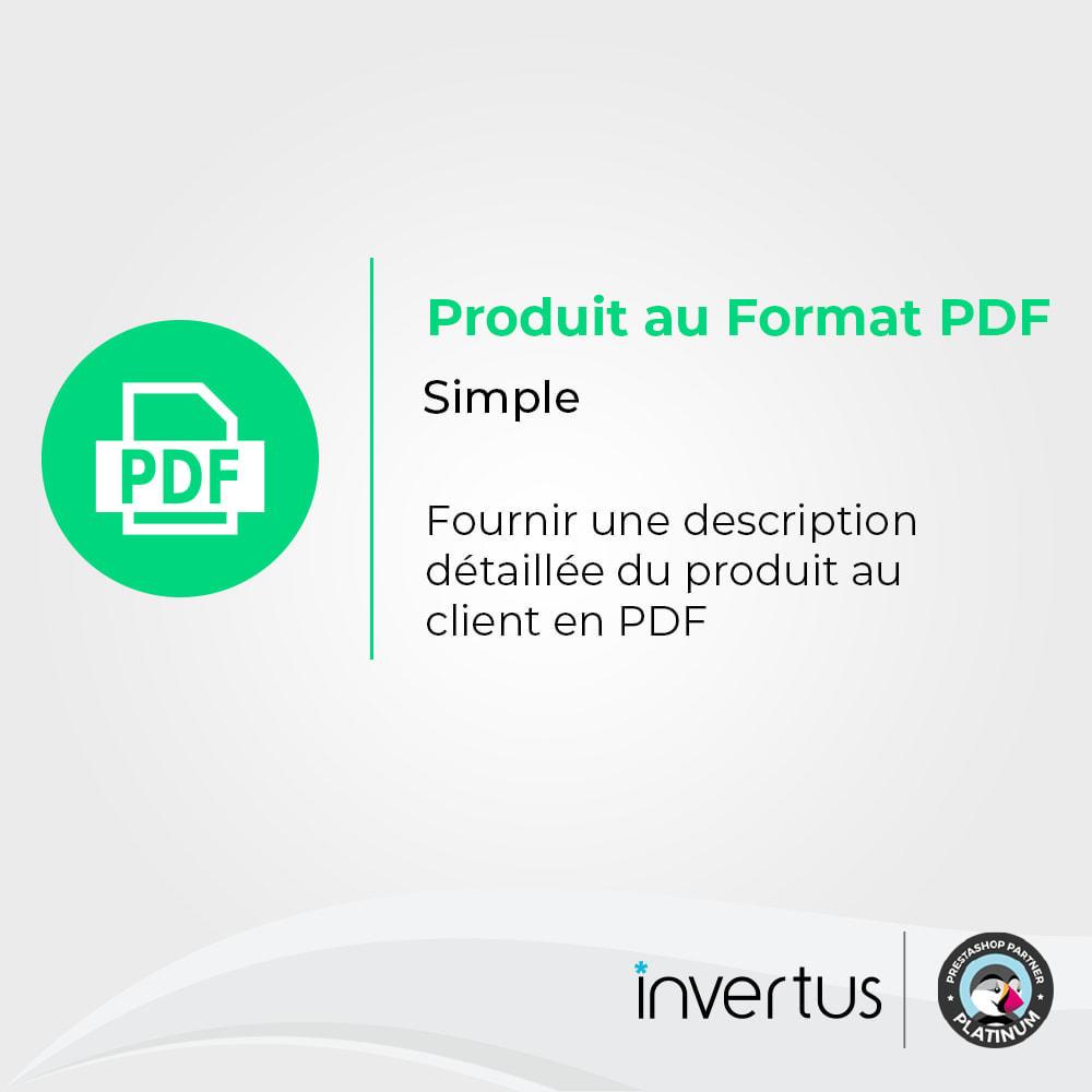 module - Information supplémentaire & Onglet produit - Produit au format PDF simple - 1