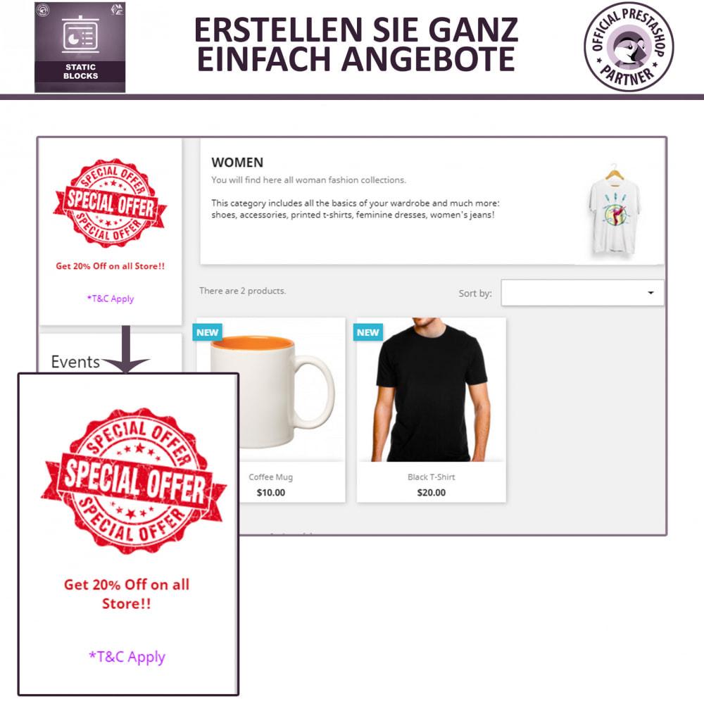 module - Blocks, Reiter & Banner - Statische Blöcke - Fügen Sie HTML- und Textblöcke hinzu - 3