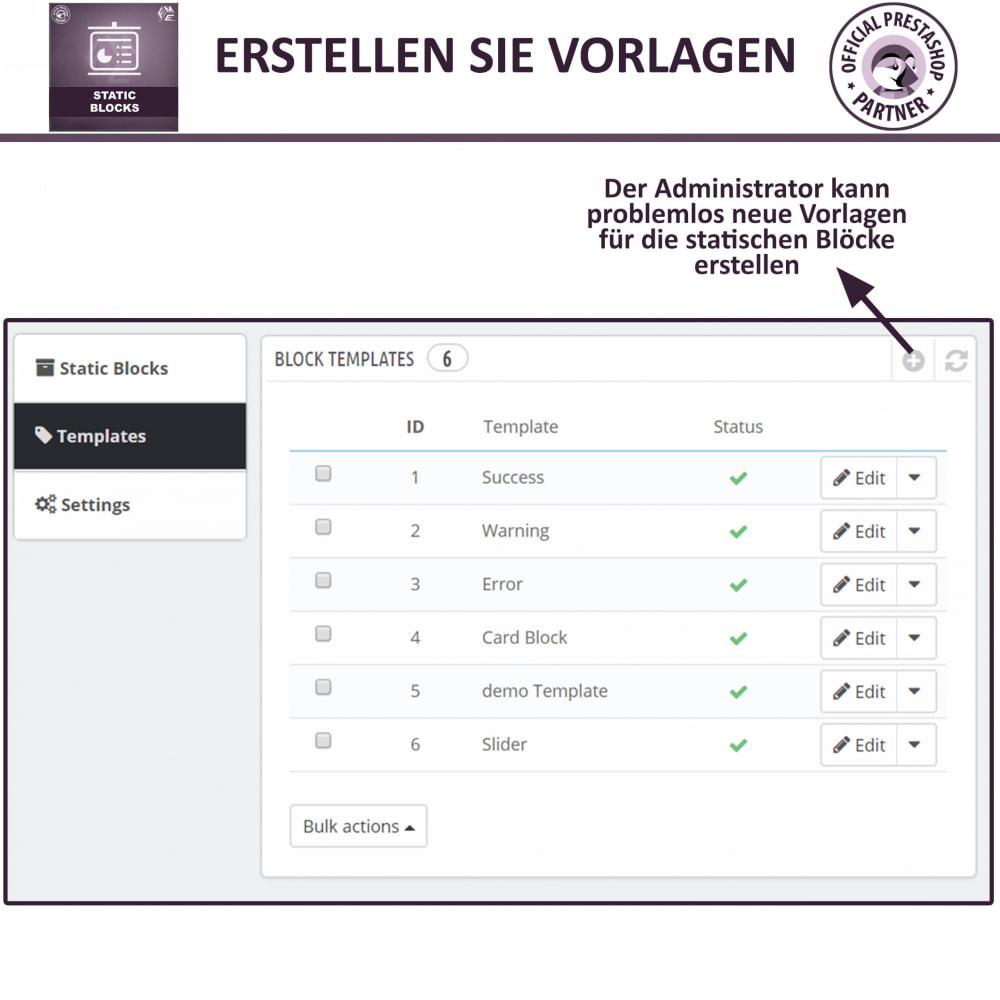 module - Blocks, Reiter & Banner - Statische Blöcke - Fügen Sie HTML- und Textblöcke hinzu - 12