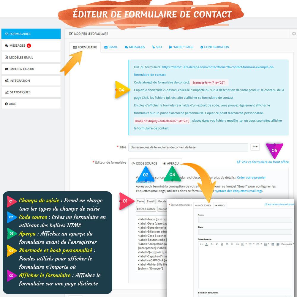 module - Formulaires de Contact & Sondages - Contact Form 7 – Générateur de formulaires de contact - 6