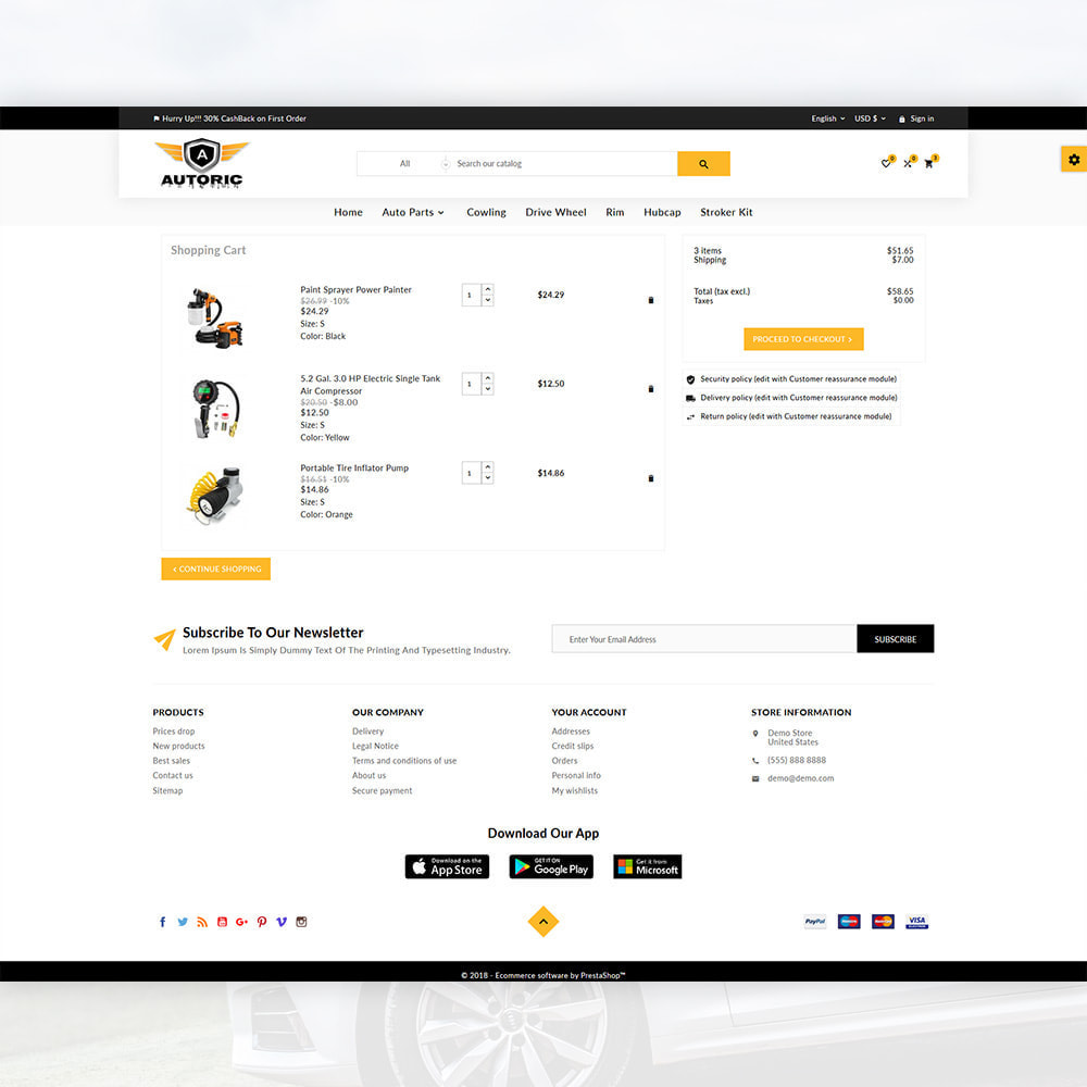 theme - Carros & Motos - Autoric – Autopart and Tools Super Store - 5