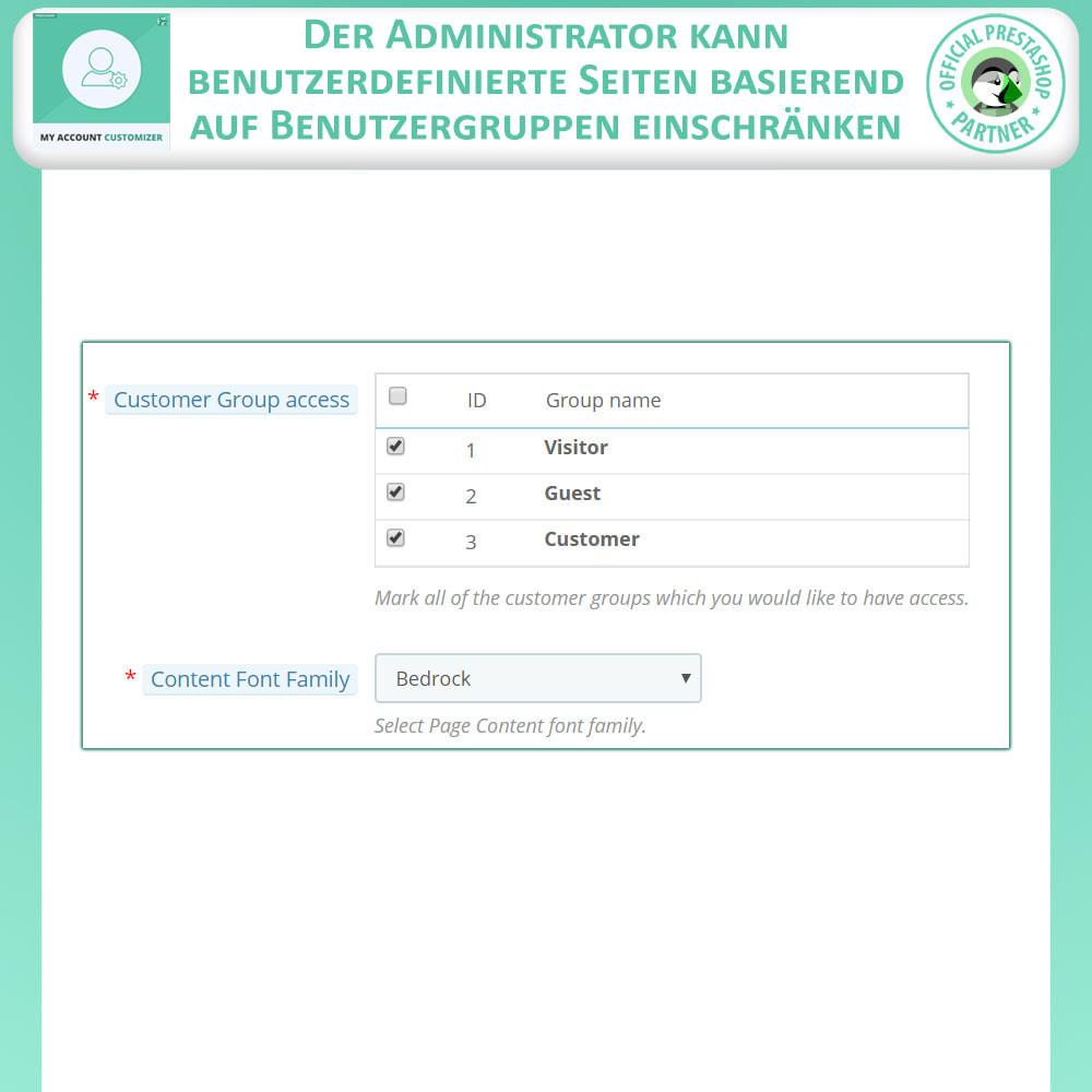 module - Administrationstools - Meine Konto-Anpassung - 8