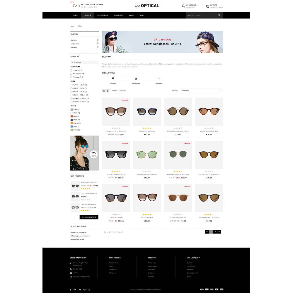 theme - Jewelry & Accessories - Optical - Goggles Store - 3