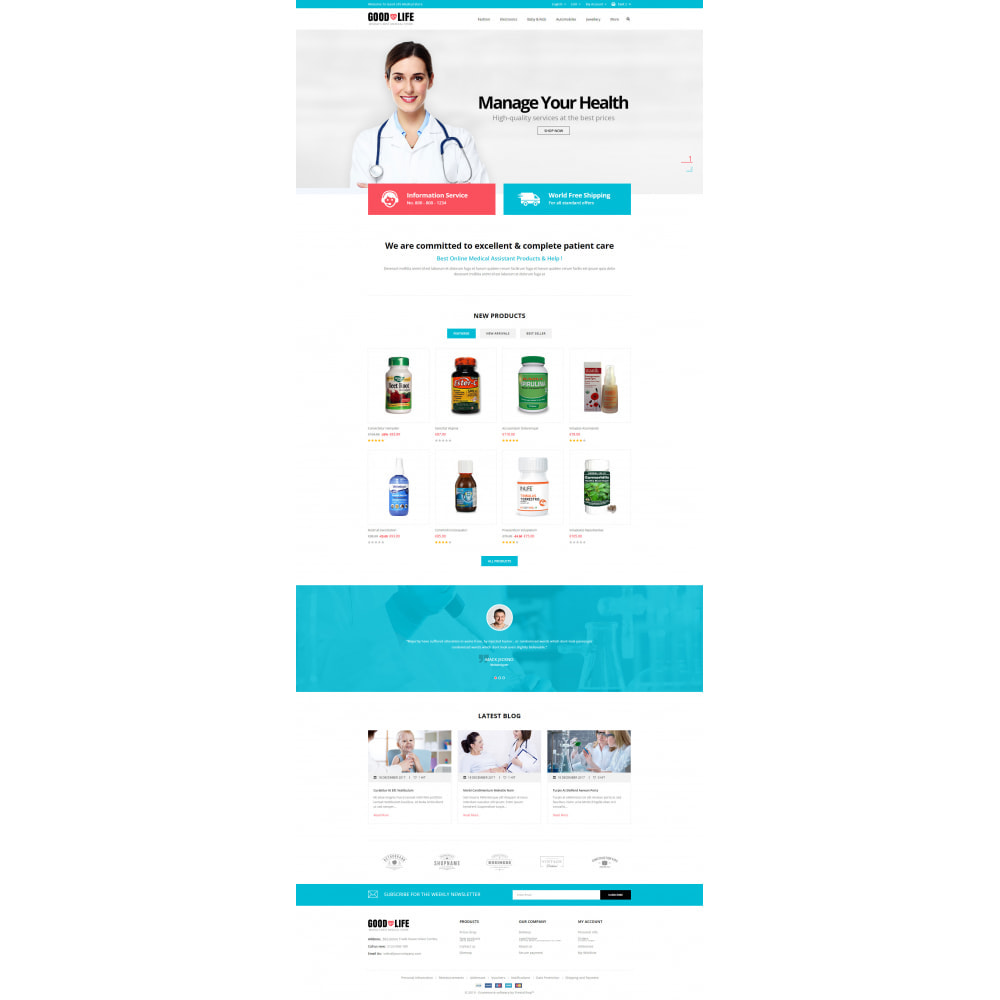 theme - Salute & Bellezza - Good Life - Medical Store - 2