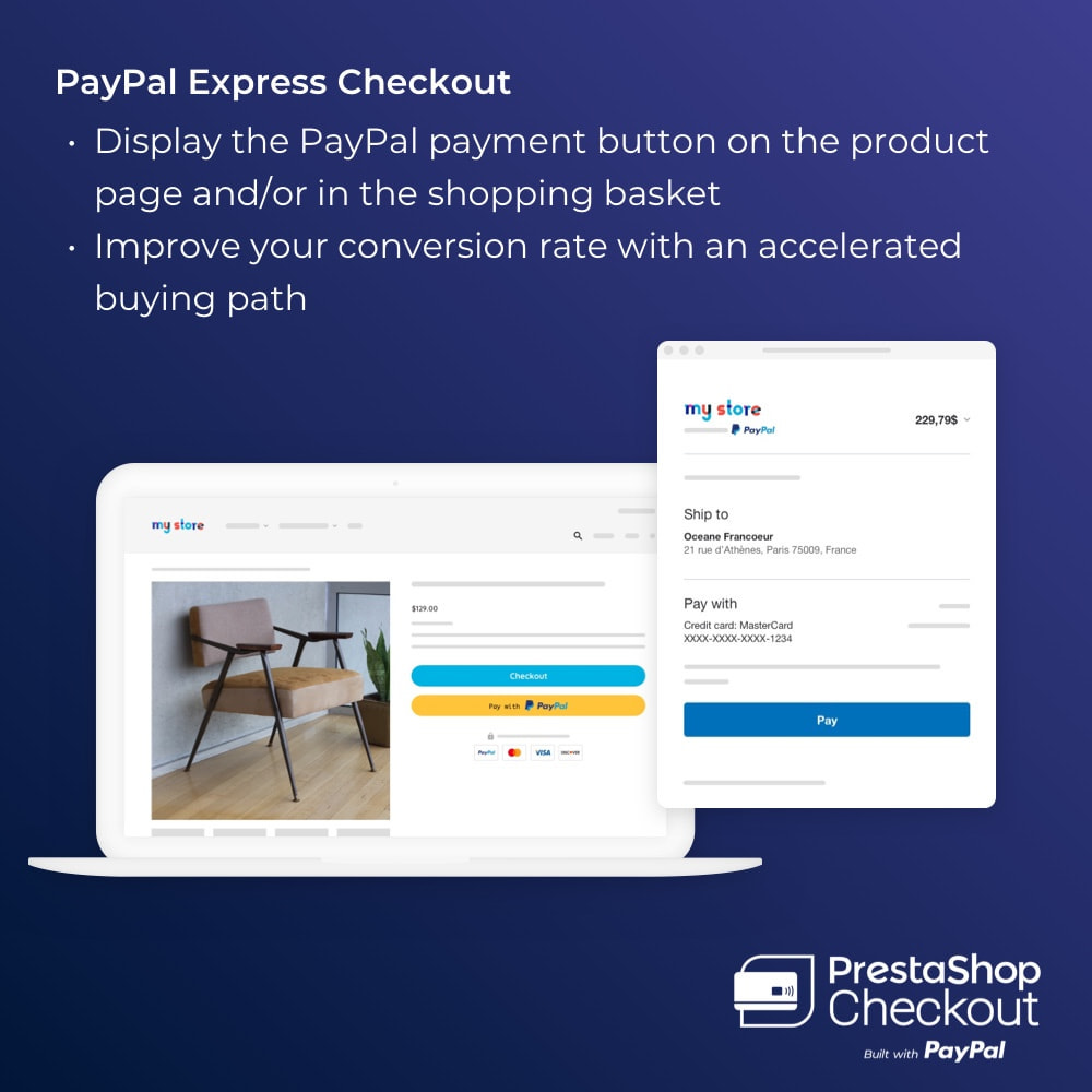 module - Payment by Card or Wallet - PrestaShop Checkout built with PayPal - 6