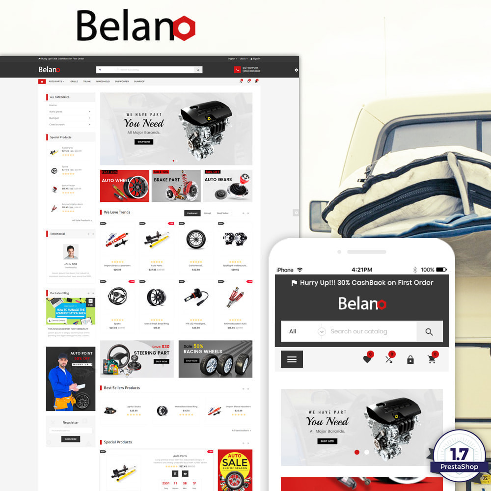 theme - Automotive & Cars - Belano – AutoPart Super Store - 1