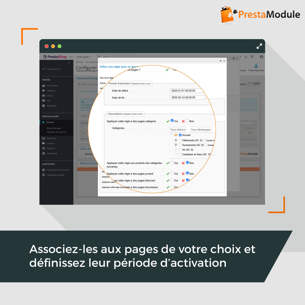 module - Personnalisation de Page - Advanced Background Changer - 2