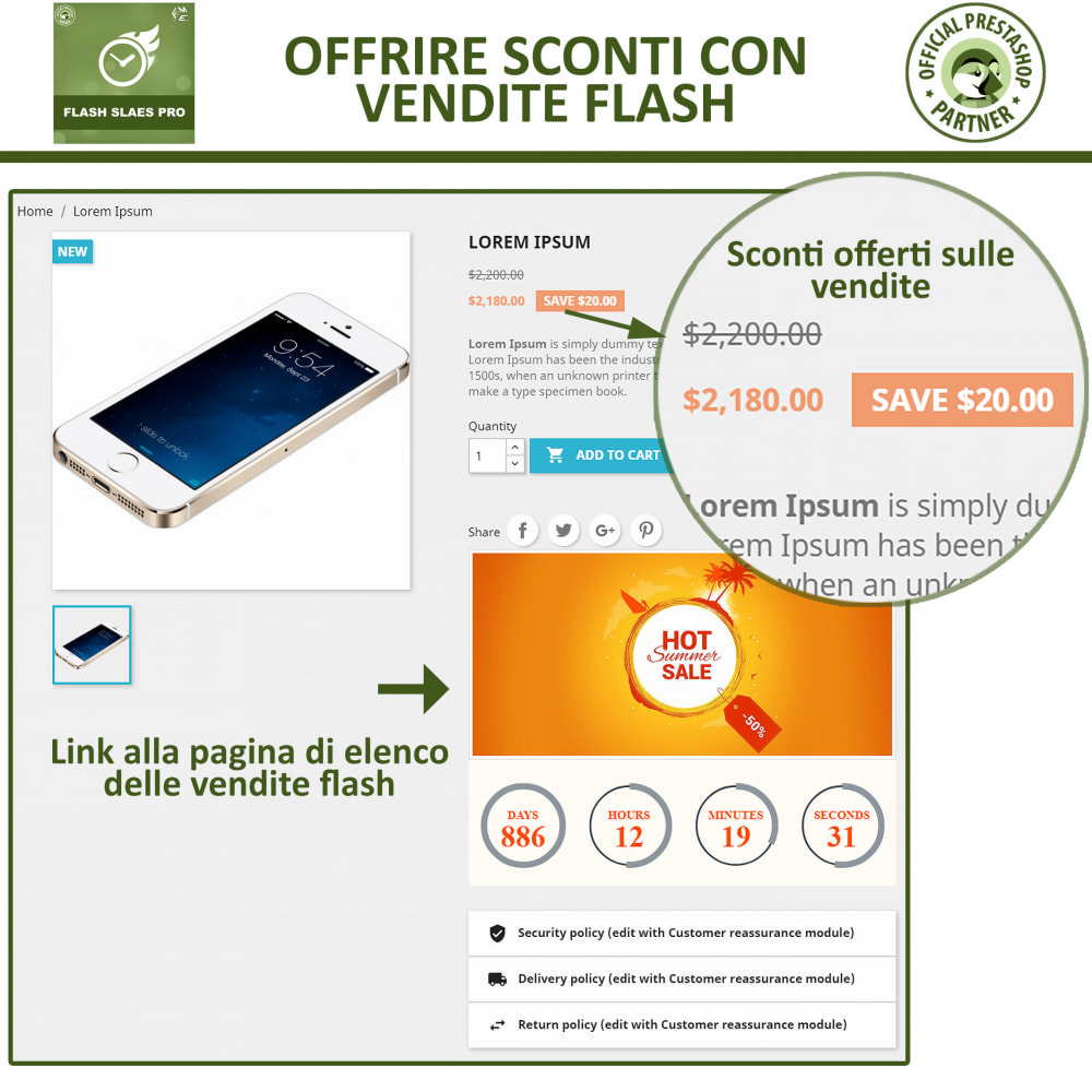 module - Flash & Private Sales - Vendite Flash con Timer di Conto alla Rovescia - 6