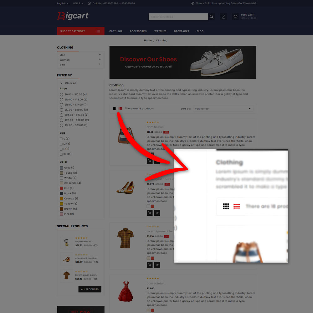 theme - Mode & Schuhe - Bigcart Fashion Store - 6