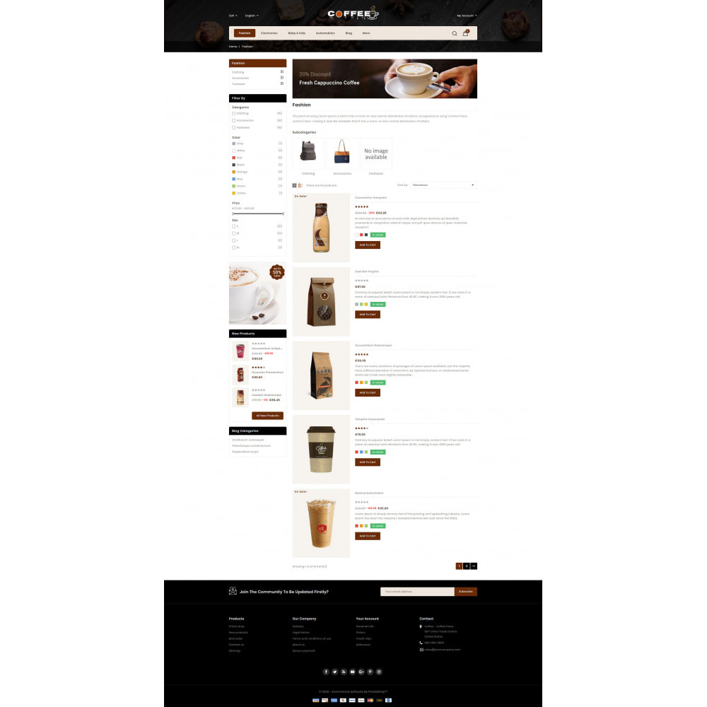theme - Cibo & Ristorazione - Fresh Coffee Shop - 4