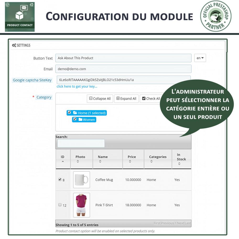 module - Formulaires de Contact & Sondages - Contact du produit  - Formulaire de Demande - 5