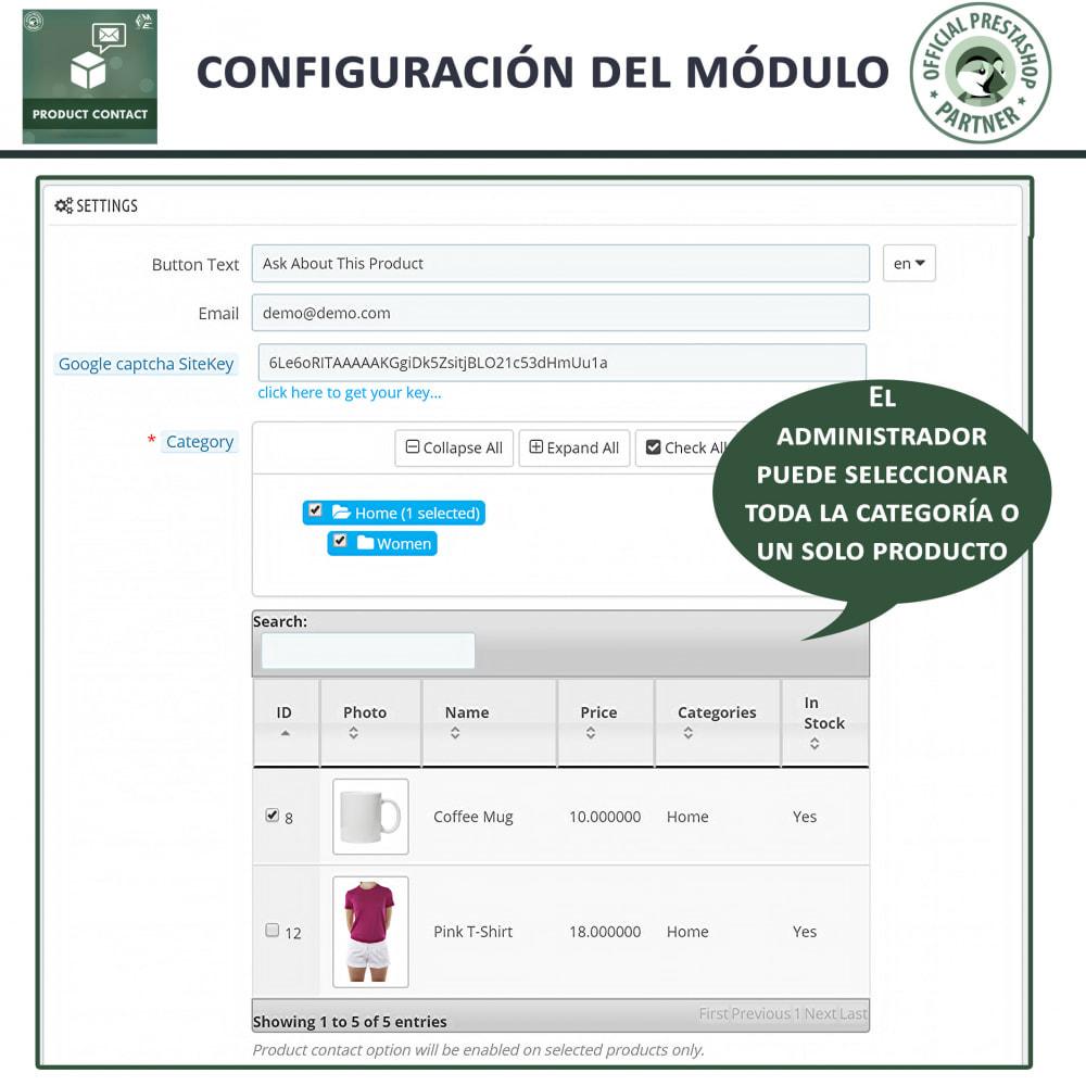module - Formulario de contacto y Sondeos - Contacto del producto - Formulario de solicitud - 5
