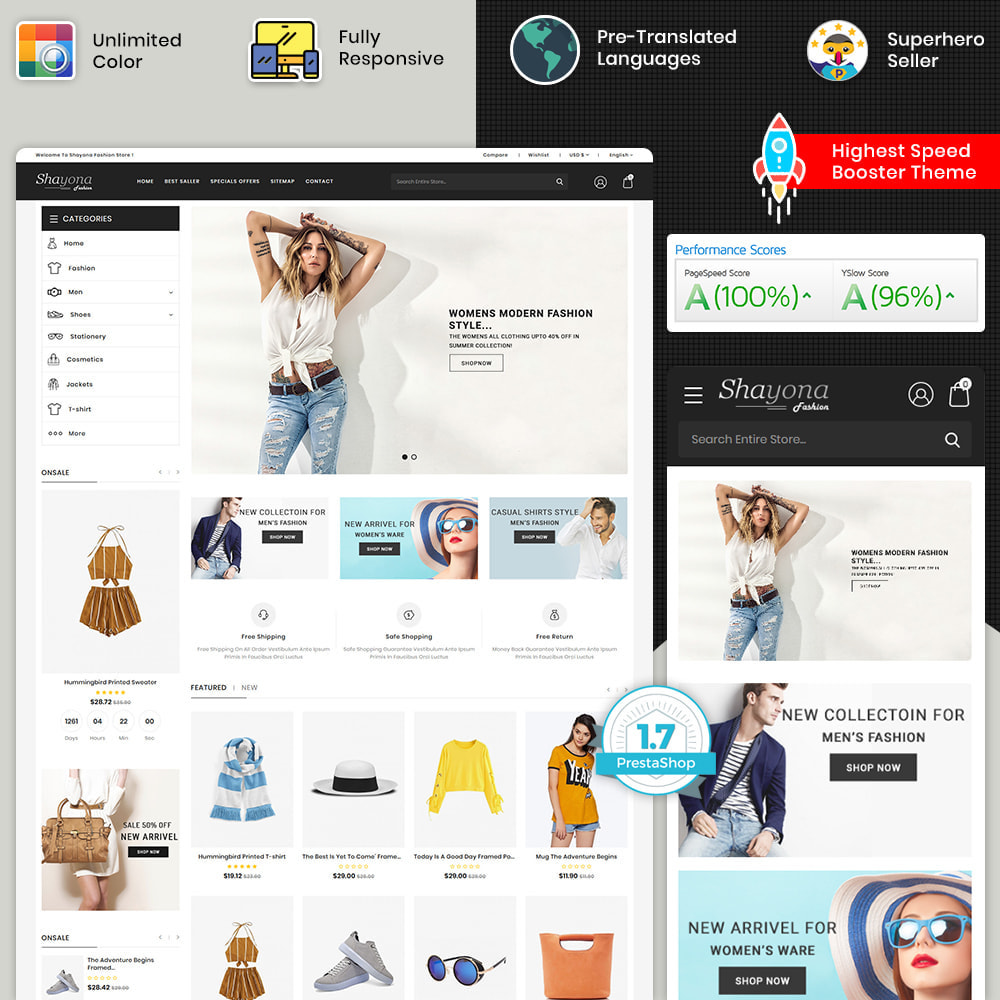 theme - Fashion & Shoes - Shayona - Fashion & Clothing, Jewelry & Watch Store - 1
