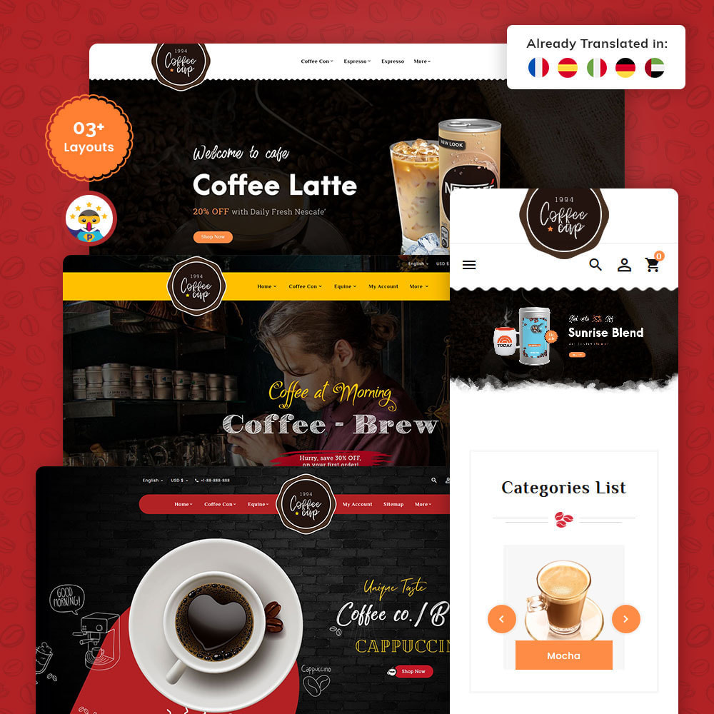 theme - Boissons & Tabac - Coffee Cup - Sweet & Drinks - 1