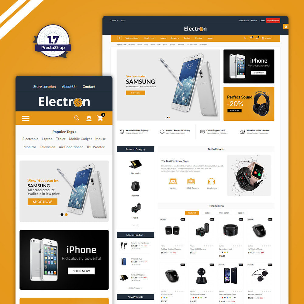 theme - Elektronika & High Tech - Electron–Electronic Mega Mall - 1