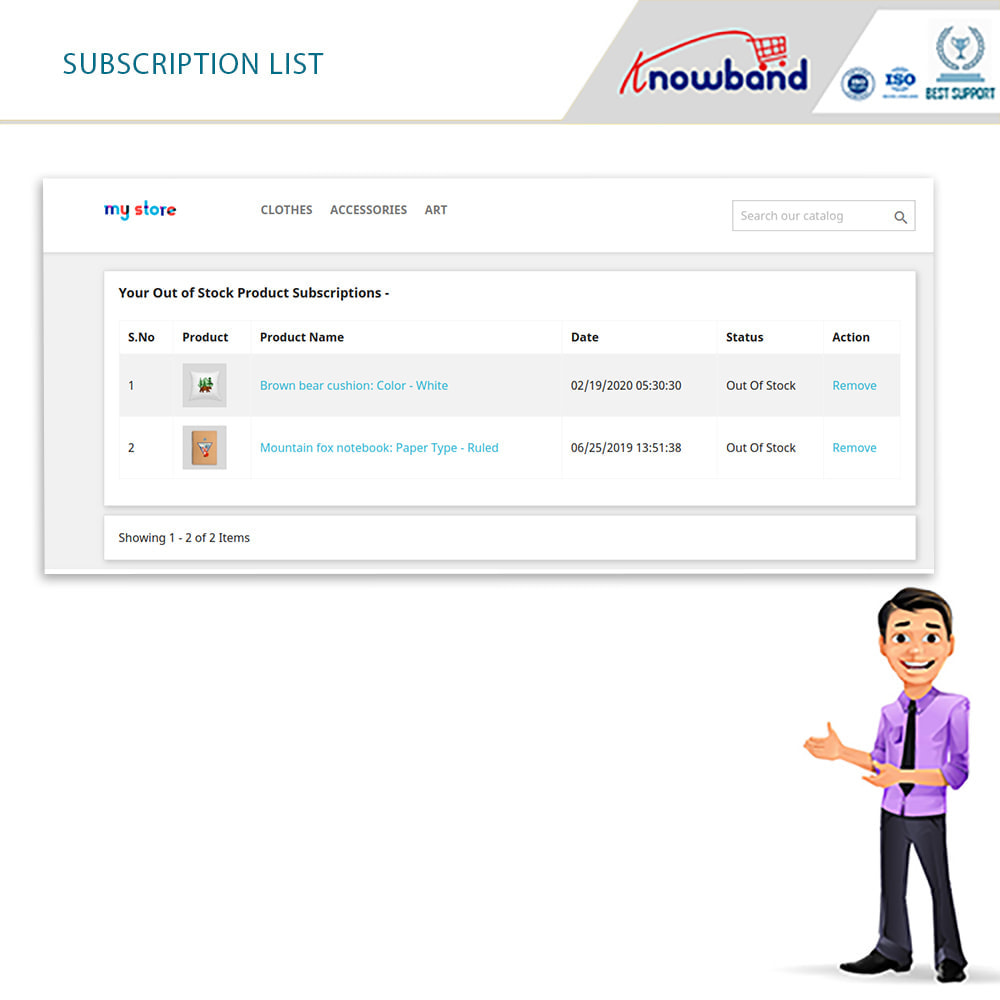 module - Emails & Notificaties - Knowband - Back in Stock Notification - 6