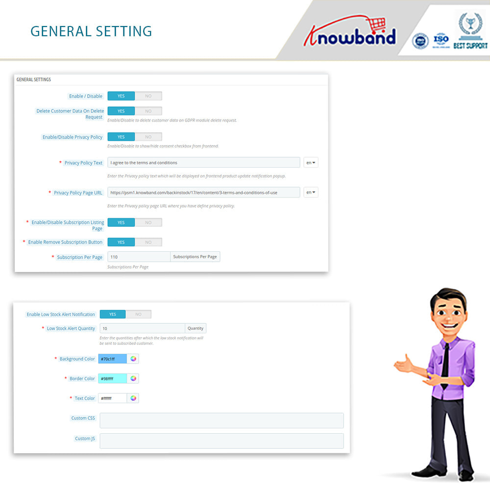 module - E-mails y Notificaciones - Knowband - Notificación De Nuevo En Inventario - 13