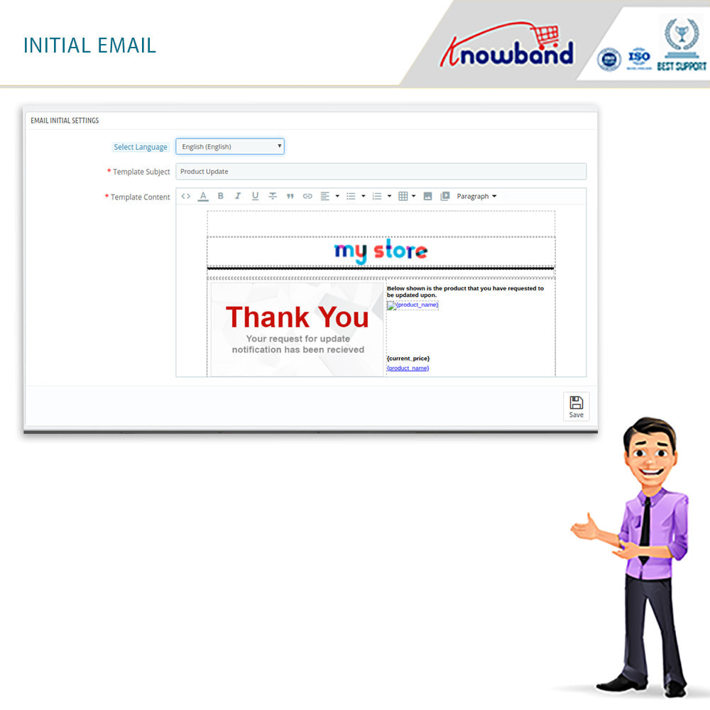 module - E-mails y Notificaciones - Knowband - Notificación De Nuevo En Inventario - 5
