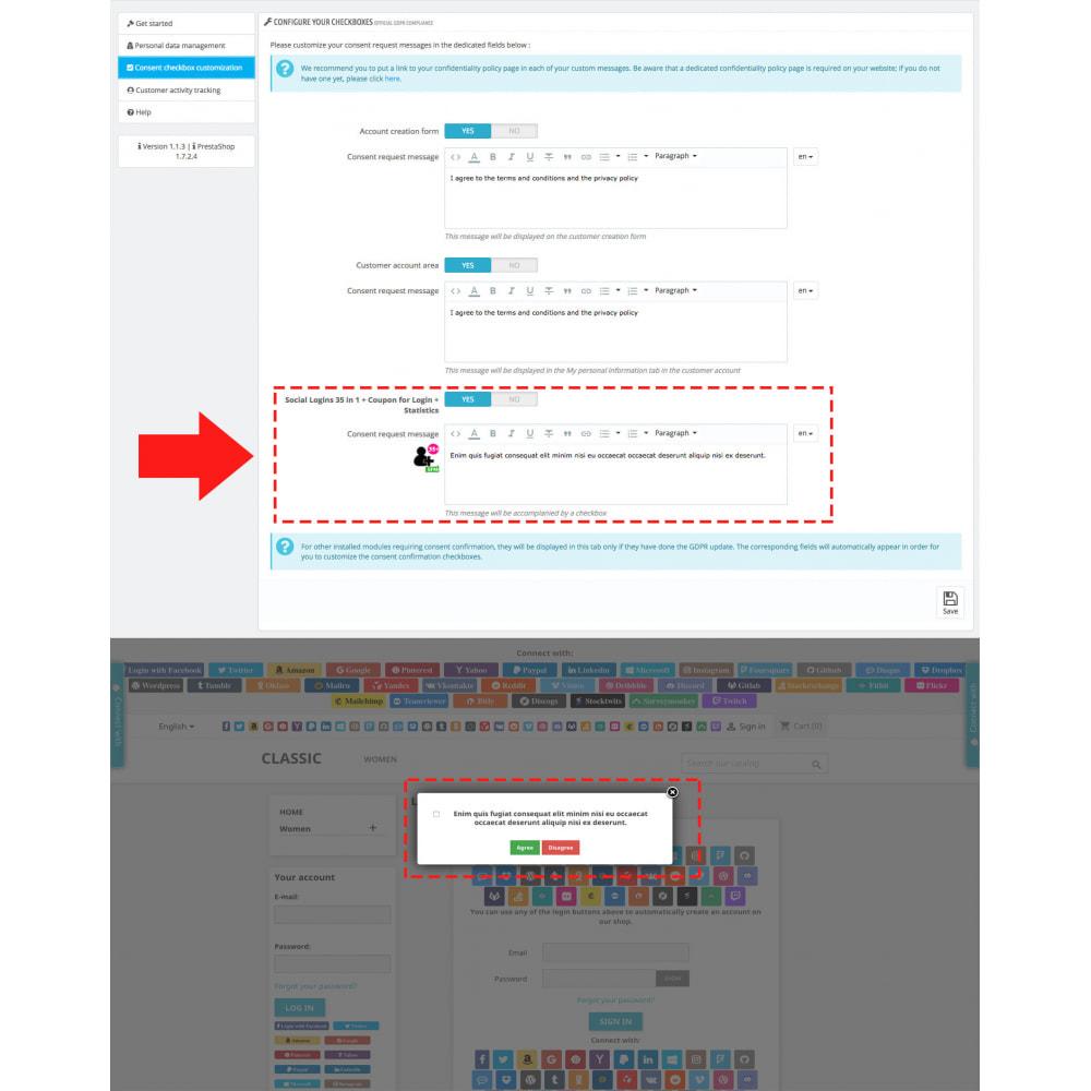 module - Módulos de Botões de Login & Connect - Social Logins 35 in 1, Discounts, MailChimp, Statistics - 4