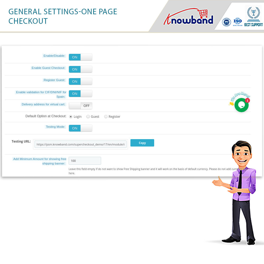 module - Proceso rápido de compra - One Page Checkout, Social Login & Mailchimp - 26