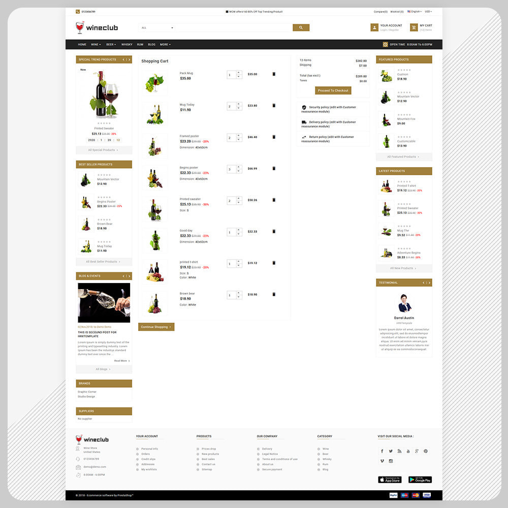 theme - Bebidas & Tabaco - USA Wine - Wine Big Store - 5