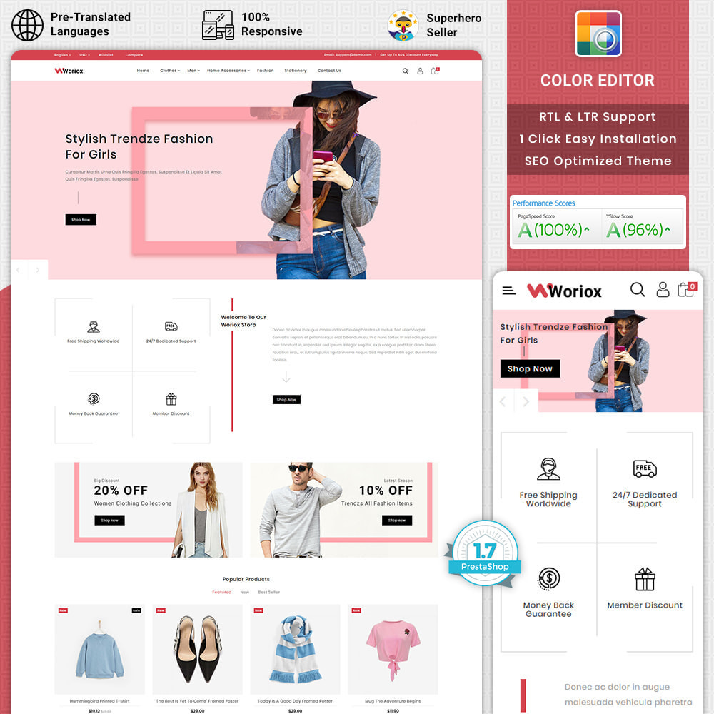 theme - Мода и обувь - Woriox - Fashion & Clothing Store - 1