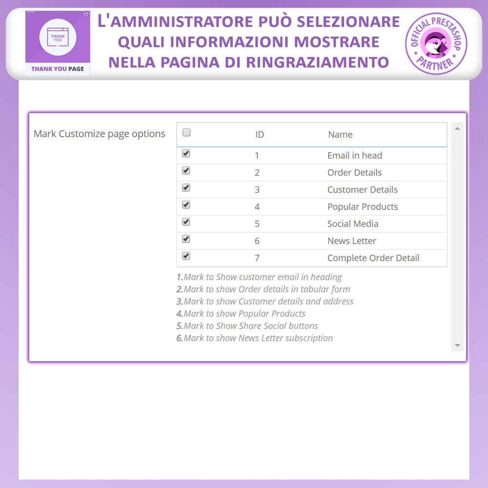 module - Promozioni & Regali - Pagina Di Ringraziamento Anticipata - 5