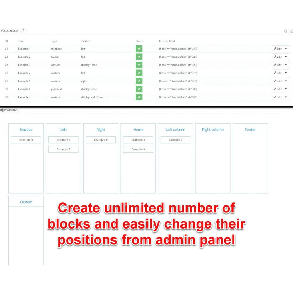 module - Social Widgets - Social Tabs Slider (8 in 1) - 8
