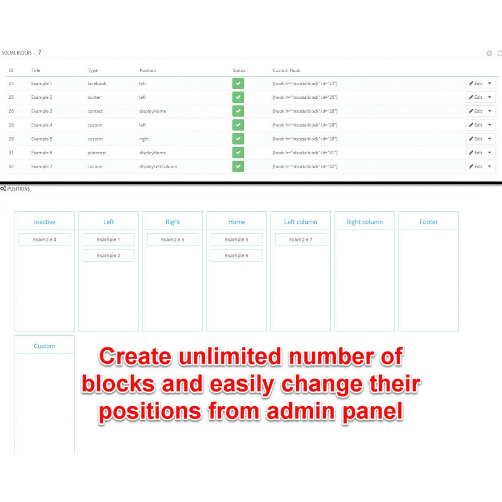 module - Widgets réseaux sociaux - Social Widgets (8 in 1) - 8