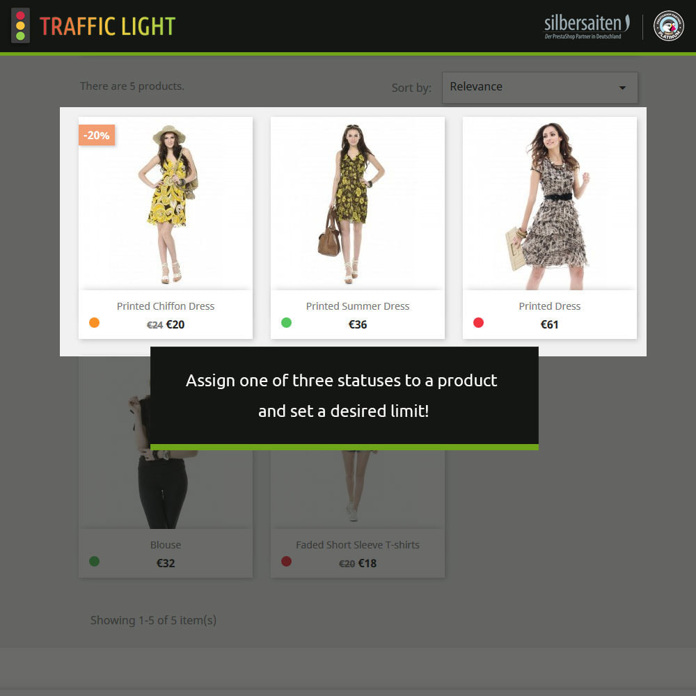 module - Additional Information & Product Tab - Traffic light function - Product availability - 2