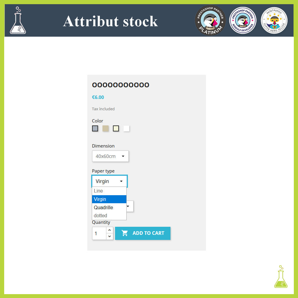 module - Diversificação & Personalização de Produtos - Display of combinations/attributes with stock - 4