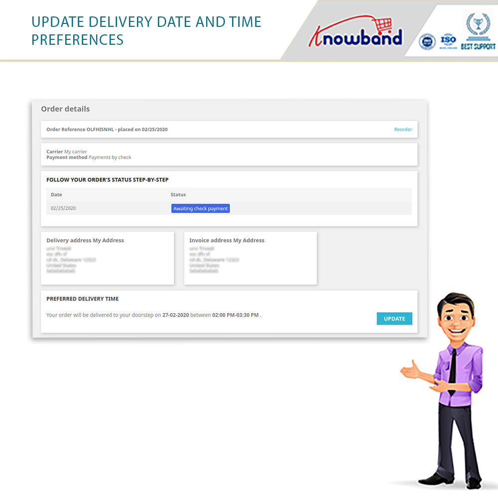 module - Leverdatum - Knowband - Preferred Delivery Time - 3