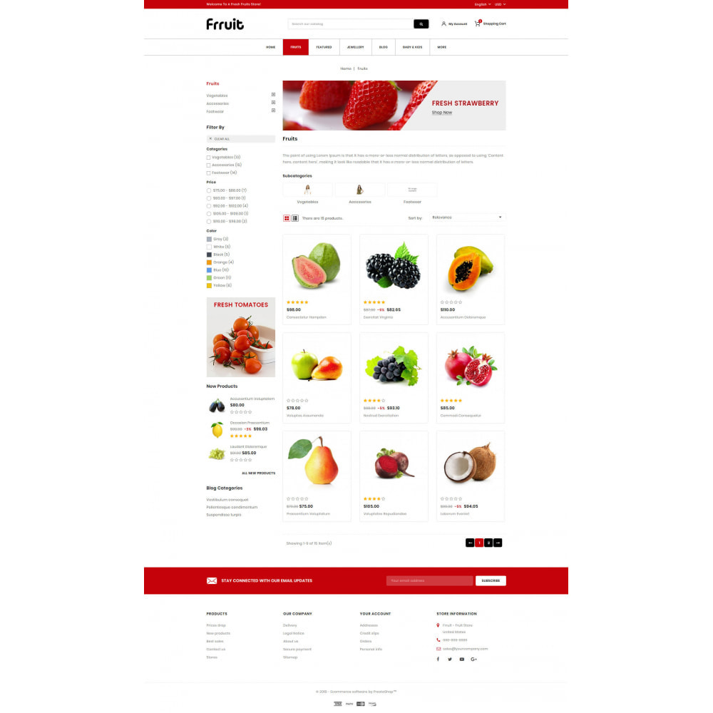 theme - Food & Restaurant - Fresh Fruits Store - 3
