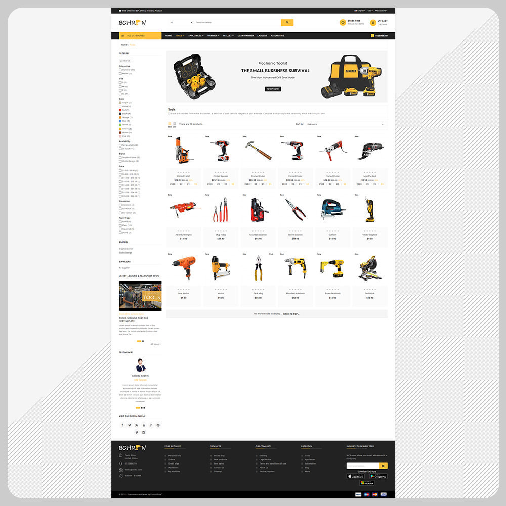 theme - Automotive & Cars - Paris Tools – Tools Big Store - 3