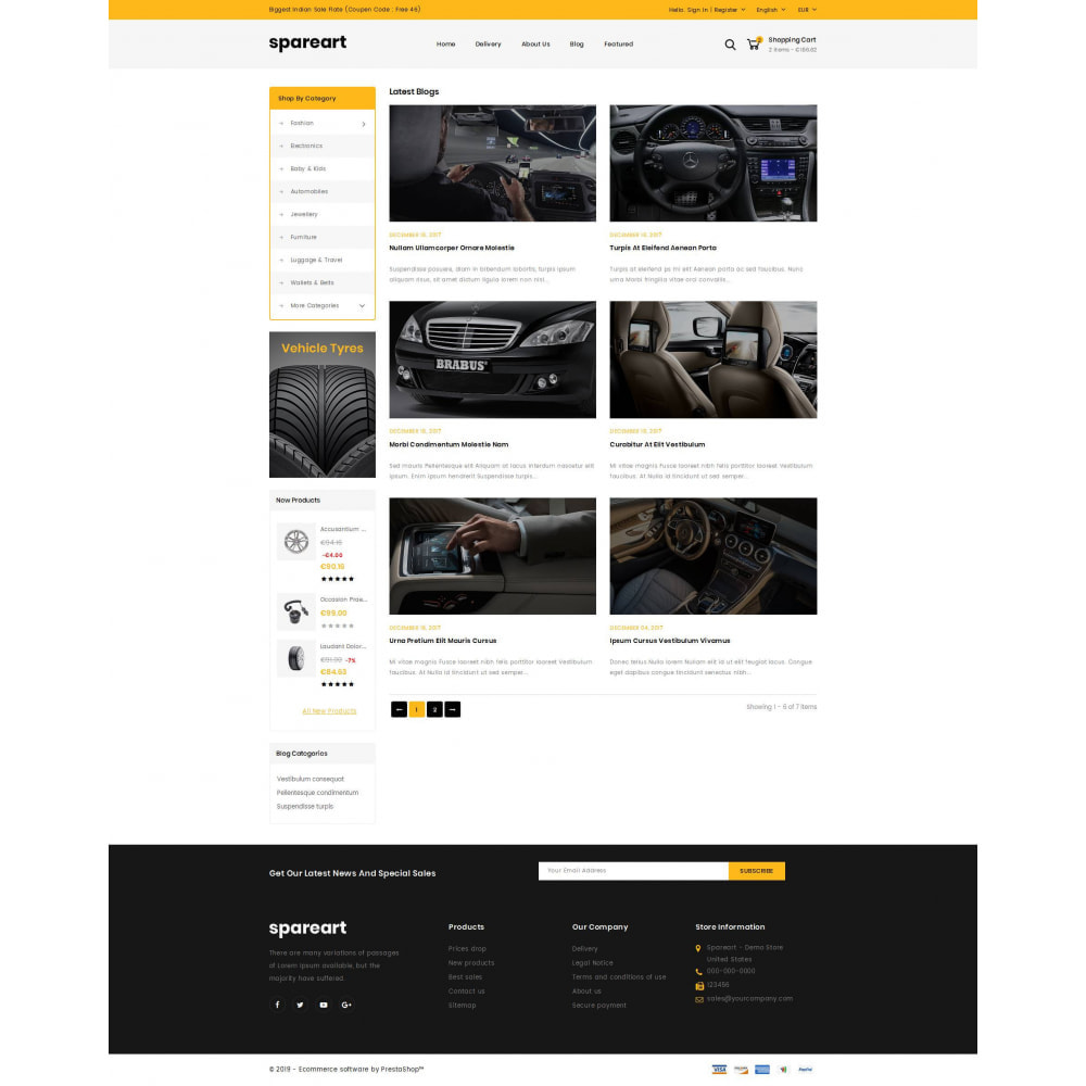 theme - Automotive & Cars - Sparearts - Automobile Store - 9