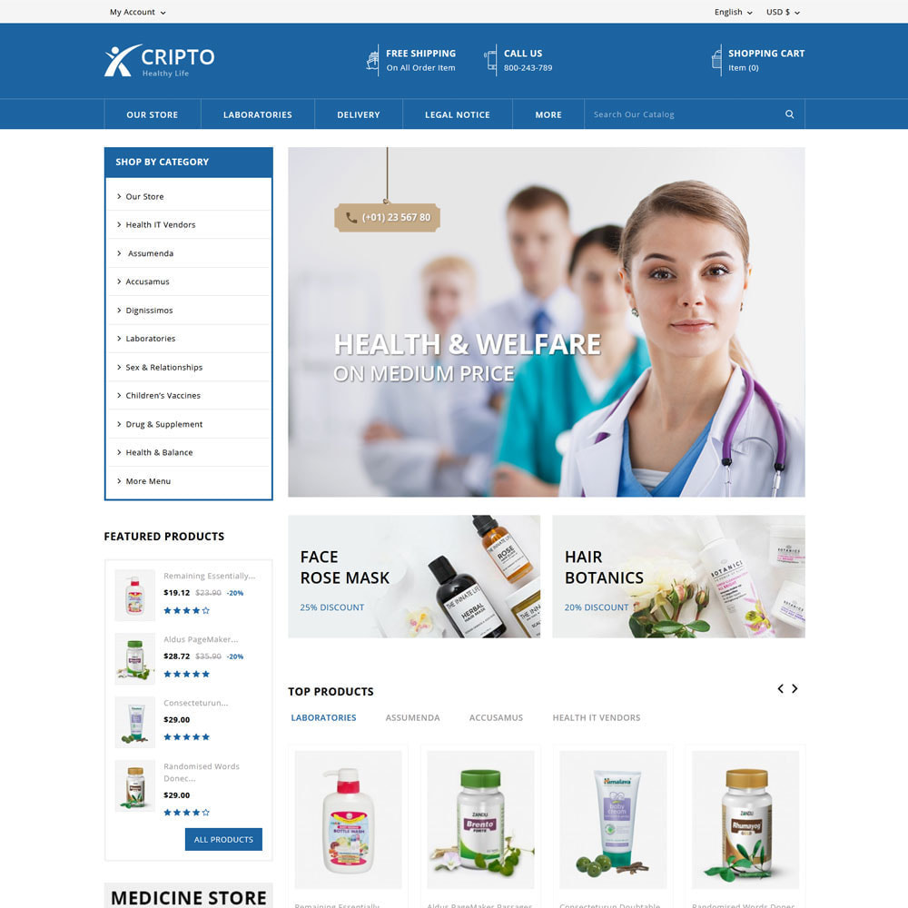 theme - Health & Beauty - Cripto - Mega Medicine Store - 3