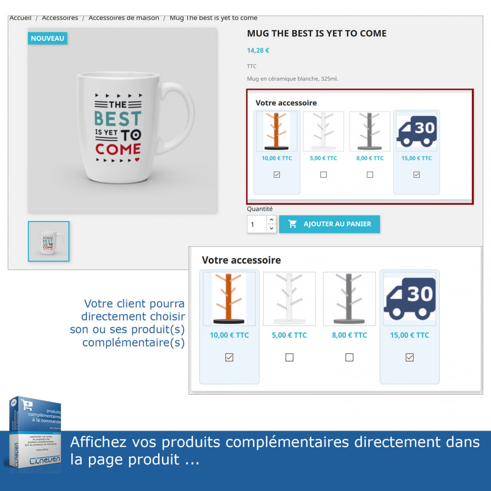 module - Ventes croisées & Packs de produits - Produits complémentaires à la commande - 3