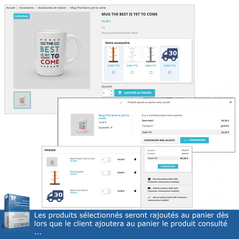 module - Ventes croisées & Packs de produits - Produits complémentaires à la commande - 4
