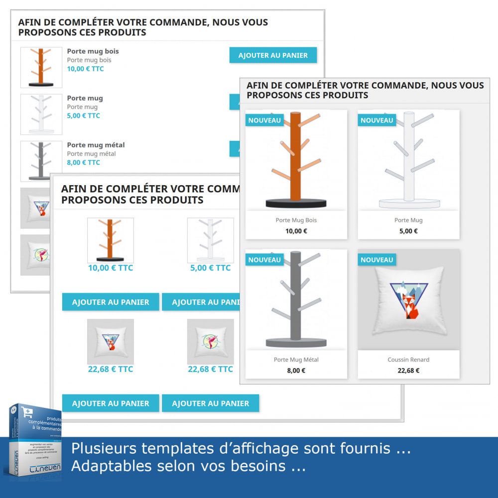 module - Ventes croisées & Packs de produits - Produits complémentaires à la commande - 6