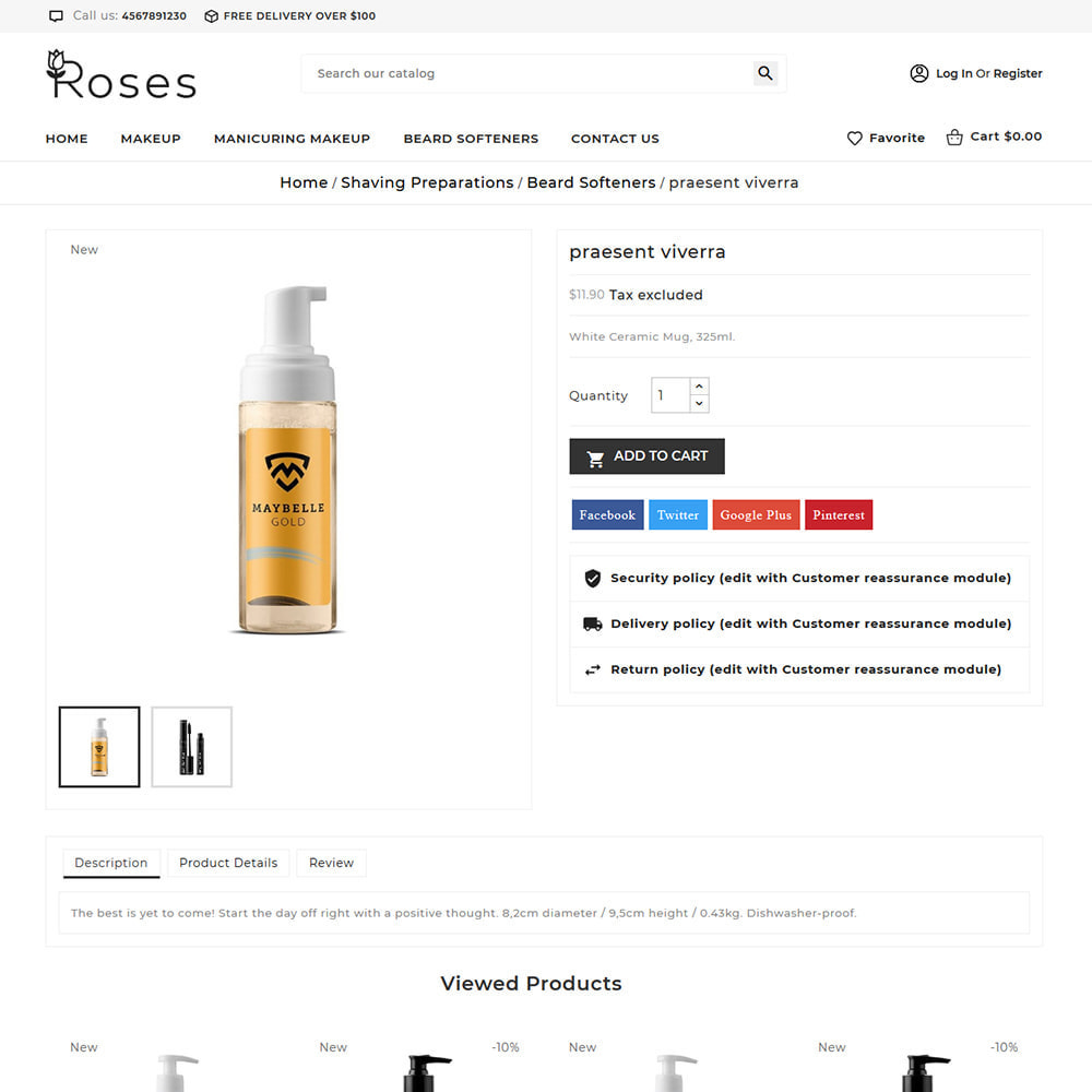 theme - Gifts, Flowers & Celebrations - Roses Cosmetic Store - 5