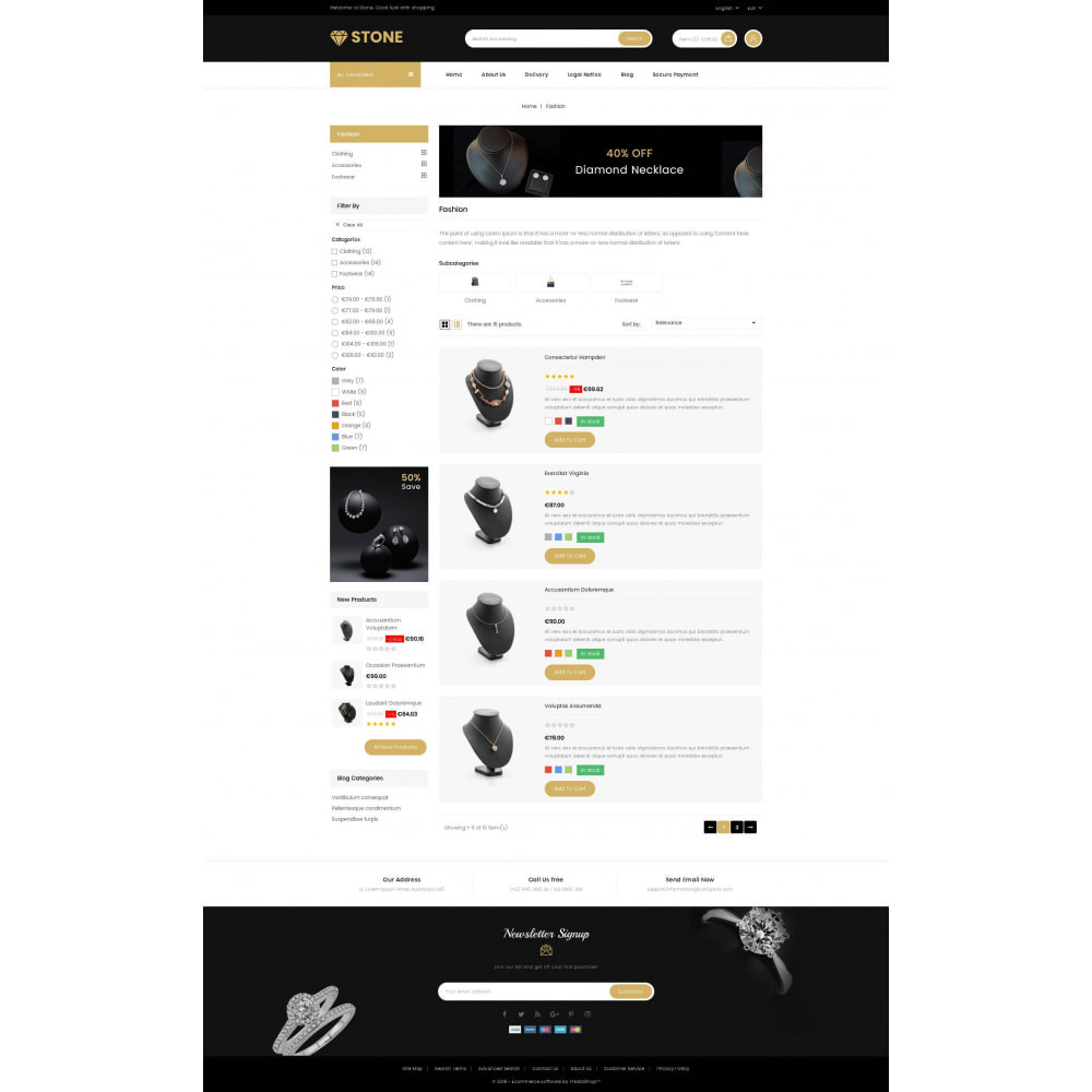 theme - Ювелирные изделия и Аксессуары - Stone - Jewelry Store - 4