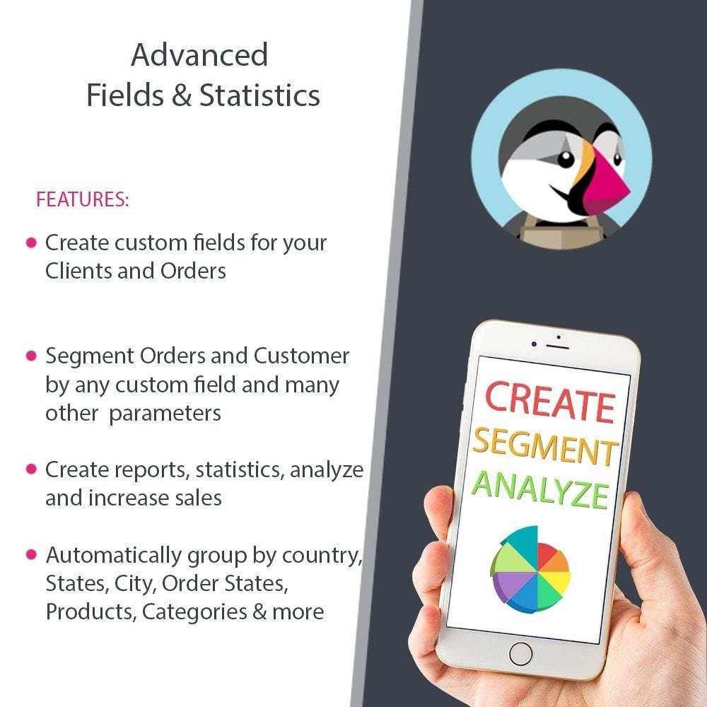 module - Gestion des clients - Rapports de vente, statistiques et champs personnalisés - 1