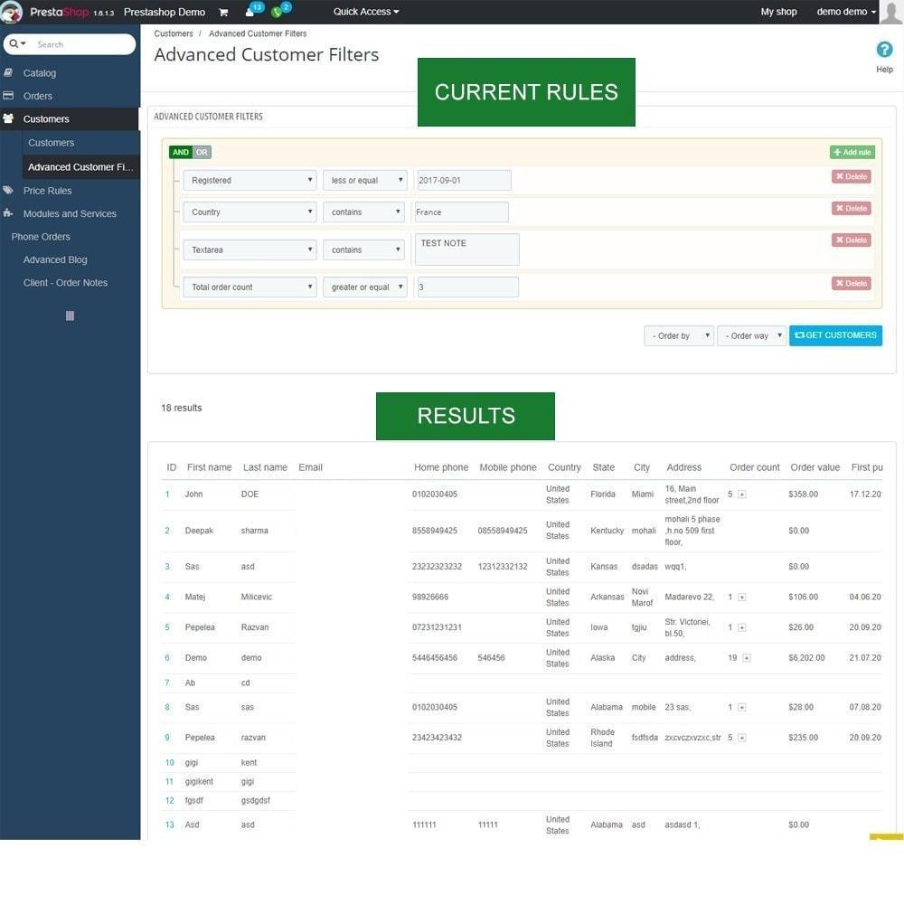 module - Gestion des clients - Rapports de vente, statistiques et champs personnalisés - 4
