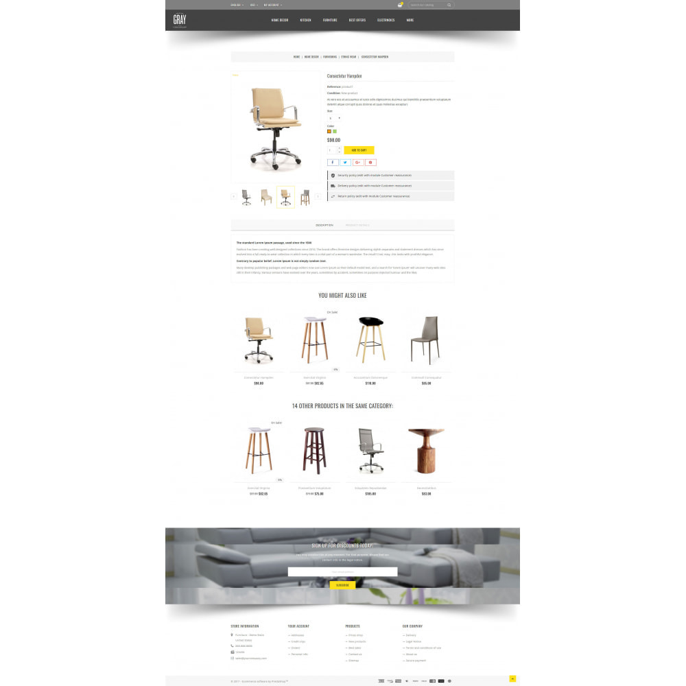 theme - Dom & Ogród - Gray Furniture Store - 5